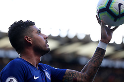 Chelsea's Emerson Palmieri is passed the ball for a throw in