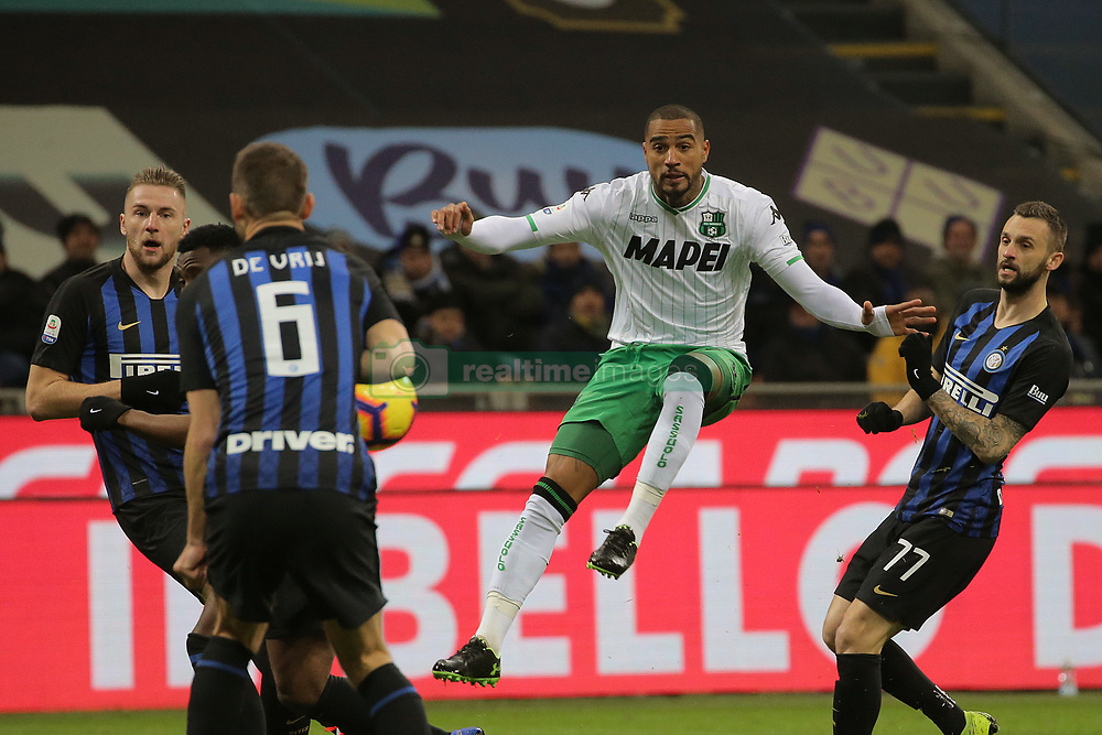 January 19, 2019 - Milan, Milan, Italy - Kevin-Prince Boateng #27 of US Sassuolo in action during the serie A match between FC Internazionale and US Sassuolo at Stadio Giuseppe Meazza on January 19, 2019 in Milan, Italy. (Credit Image: © Giuseppe Cottini/NurPhoto via ZUMA Press)