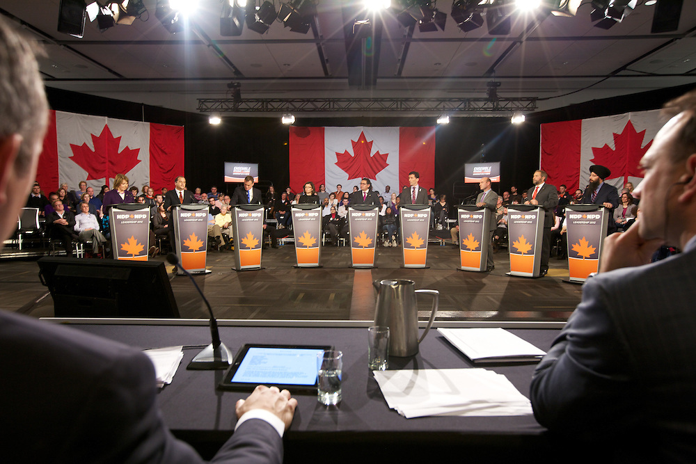 The New Democratic Party of Canada holds its first Leader's Debate on December 4th, 2011 in Ottawa, Ontario