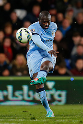 Yaya Toure of Manchester City shoots over the crossbar - Photo mandatory by-line: Rogan Thomson/JMP - 07966 386802 - 06/04/2015 - SPORT - FOOTBALL - London, England - Selhurst Park - Crystal Palace v Manchester City - Barclays Premier League.