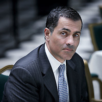 Nederland, Amsterdam , 2 mei 2012..Vali Nasr , is a leading expert on Middle East and Islamic world, a best-selling author, influential commentator and appointed Dean of the Johns Hopkins School of Advanced International Studies in Washington, D.C., Senior Fellow in Foreign Policy at Brookings Institution, and a columnist for Bloomberg View..Foto:Jean-Pierre Jans
