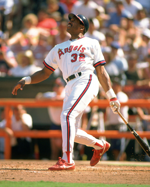 ANAHEIM - 1991:  Dave Winfield of the Los Angeles Angels bats during an MLB game at The Big A in Anaheim, California during the 1988 season. (Photo by Ron Vesely).  Subject:   Dave Winfield