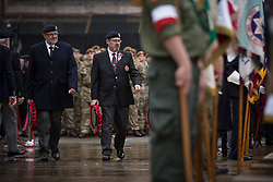 © Licensed to London News Pictures . 08/11/2015 . Manchester , UK . Remembrance Sunday service at the Cenotaph in Manchester . Photo credit : Joel Goodman/LNP