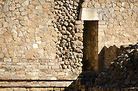 A door in the west side of the South Platform staircase, Monte Alban, Oaxaca, Mexico.