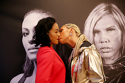 October 16, 2017 - Oslo, Norway - MIKAELA LAUREN (R) of Sweden kisses CECILIA BRAEKHUS of Norway during a press conference with the boxers in Oslo. They meet for battle in Oslofjord Convention Center in Stokke on 21 October. (Credit Image: © Borgen/NTB Scanpix via ZUMA Press)