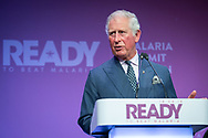THE MALARIA SUMMIT LONDON 2018<br /> Photo shows HRH The Prince of Wales speaking.<br /> Photo&copy;Steve Forrest/WHO/Panos