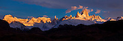 Mt. Fitzroy at sunrise in Patagonia, Argentina