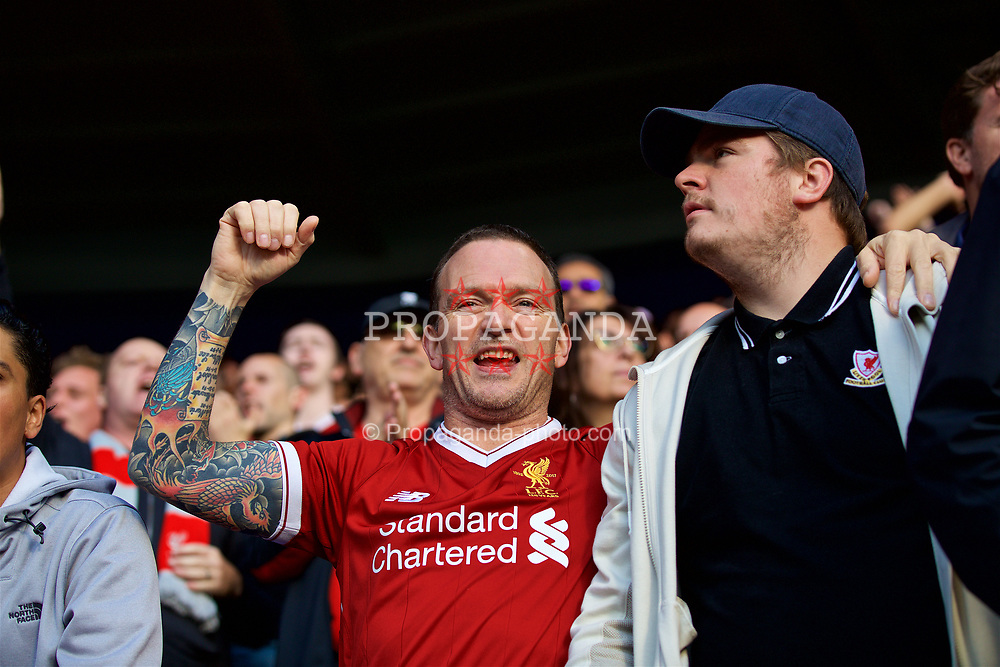 LEICESTER, ENGLAND - Saturday, September 23, 2017: Liverpool supporters before the FA Premier League match between Leicester City and Liverpool at the King Power Stadium. (Pic by David Rawcliffe/Propaganda)