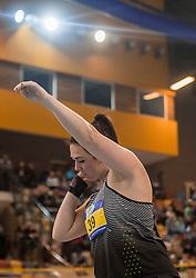 11-02-2017 NED: AA Drink NK Indoor, Apeldoorn<br /> Melissa Boekelman wint het kogelstoten
