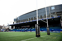 Guinness Pro 14 Branding on Post Pads prior to kick off - Mandatory by-line: Ryan Hiscott/JMP - 05/10/2019 - RUGBY - Cardiff Arms Park - Cardiff, Wales - Cardiff Blues v Edinburgh Rugby - Guinness Pro 14