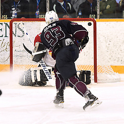 DRYDEN, ON - MAY 1: Kris Hamlin #93 of the Dryden GM Ice Dogs scores a goal in the third period during Game Two of the Central Canadian Junior Championship during the 2018 Dudley Hewitt Cup on May 1, 2018 at the Dryden Memorial Arena in Dryden, Ontario, Canada. (Photo by Andy Corneau/DHC via OJHL Images)