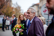 Welcome of the Czech President by authorities of the Pilsen Region.  Miloš Zeman (born 28 September 1944) is the third and current President of the Czech Republic, in office since 8 March 2013.  He announced his candidacy for the 2018 presidential elections which will be held in the Czech Republic on 12–13 January.