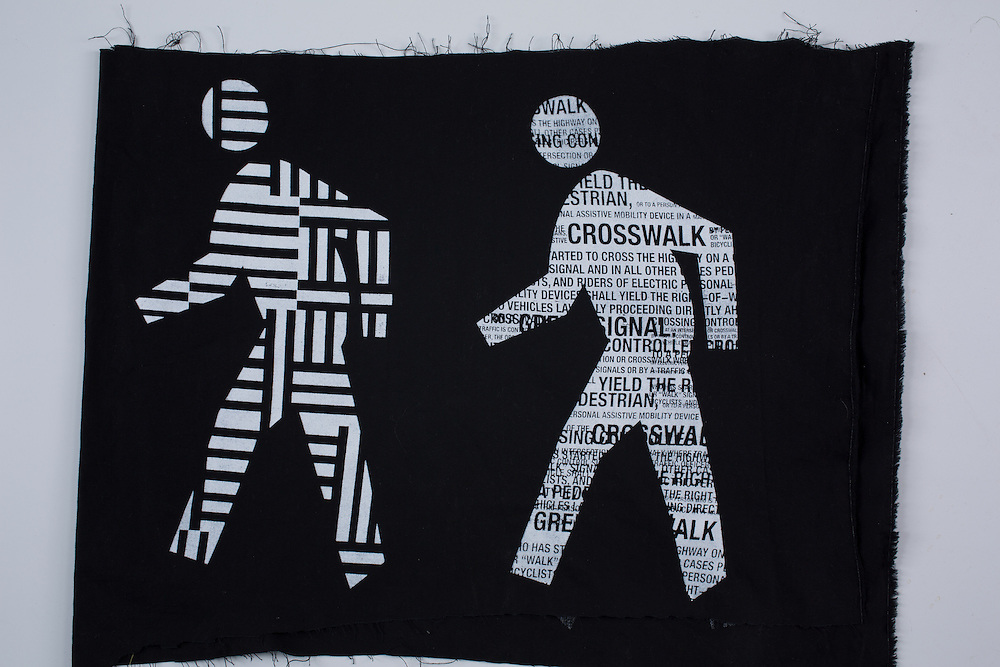 Silkscreen on fabric, by Steven Driscoll Hixson