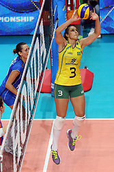 DANIELLE LINS <br /> ITALY - BRASIL <br /> VOLLEYBALL WOMEN'S WORLD CHAMPIONSHIP 2014<br /> MILAN (ITA) 12-10-2014<br /> PHOTO BY FILIPPO RUBIN