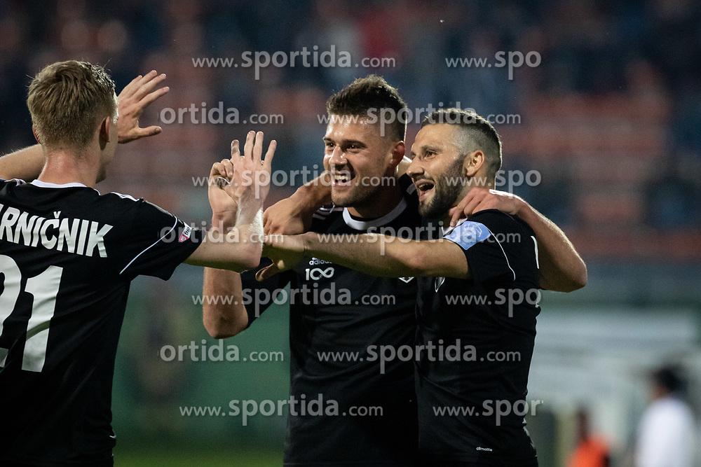 Players of Mura celebrating goal during football match between NŠ Mura and ND Gorica in 34nd Round of Prva liga Telekom Slovenije 2018/19, on May 18, 2019 in Fazanerija, Murska Sobota, Slovenia. Photo by Blaž Weindorfer / Sportida