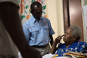 Jenny Stevens ( 1st wife of revolutionary Frankie Stevens)  Bilat Patient at the The Fred Hollows Foundation NZ outreach in Luganville, on the island of Santo, Vanuatu. August 2014<br /> <br /> Image James Ensing-Trussell/Topic