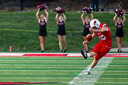 NORMAL, IL - September 07: Aiden Bresnahan during a college football game between the ISU (Illinois State University) Redbirds and the Morehead State Eagles on September 07 2019 at Hancock Stadium in Normal, IL. (Photo by Alan Look)