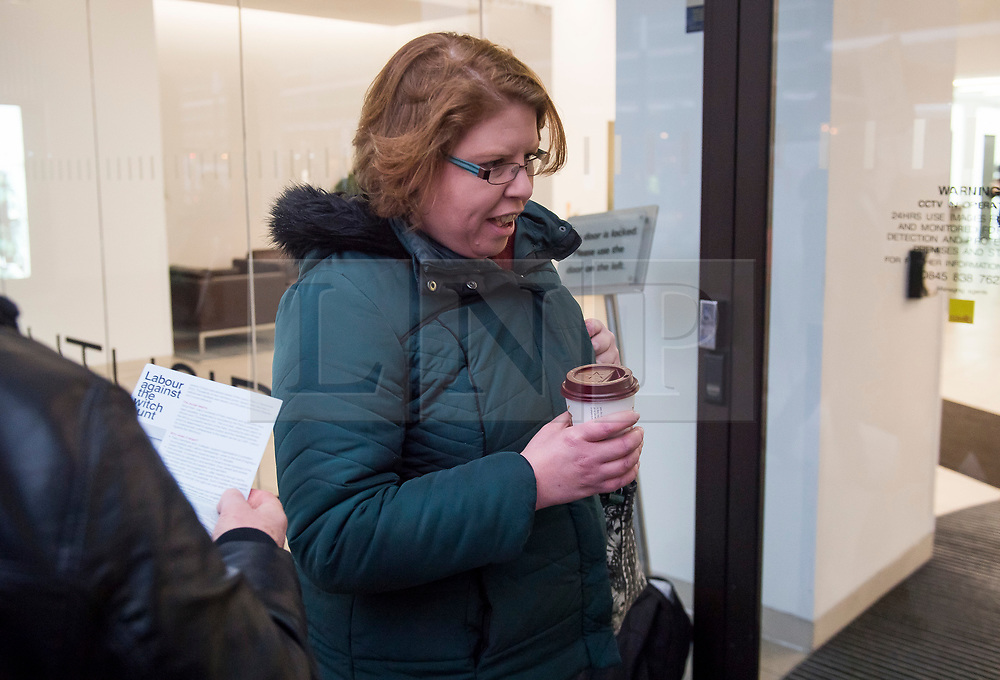 © Licensed to London News Pictures. 22/01/2018. London, UK. RACHEL GARNHAM arrives at Labour Party headquarters ahead of an NEC (National Executive Committee) meeting. Garham was one of a number of pro Corbyn party members to be recently elected to the NEC. Photo credit: Ben Cawthra/LNP