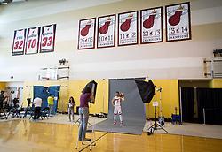 September 25, 2017 - Miami, Florida, U.S. - Miami Heat guard Goran Dragic (7) at Media Day at AmericanAirlines Arena in Miami, Florida on September 25, 2017. (Credit Image: © Allen Eyestone/The Palm Beach Post via ZUMA Wire)
