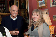 NICHOLAS COLERIDGE; MARY KILLEN, Party to celebrate the publication of Animal Magic by Andrew Barrow. Tite St. London. 28 February 2011.  -DO NOT ARCHIVE-© Copyright Photograph by Dafydd Jones. 248 Clapham Rd. London SW9 0PZ. Tel 0207 820 0771. www.dafjones.com.