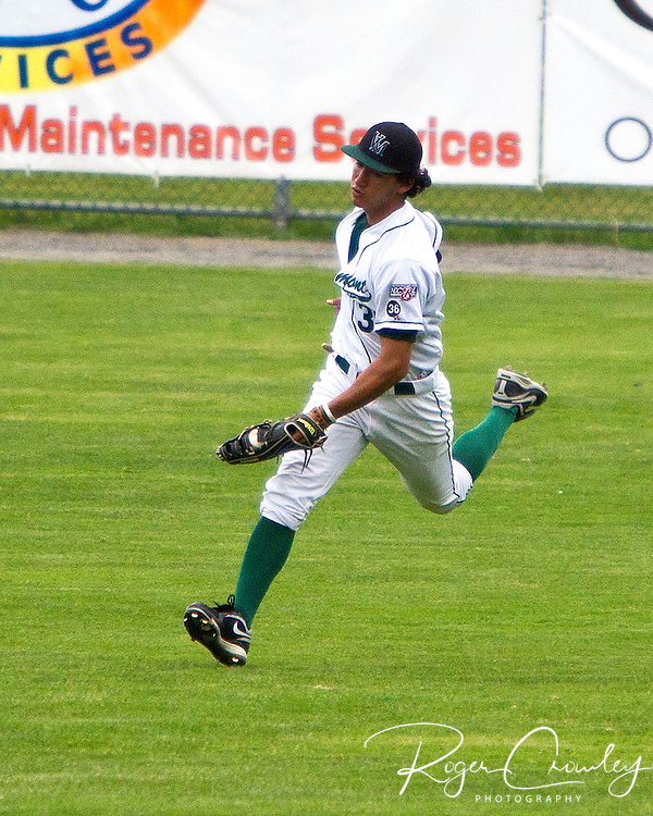 Michael White hit a two out single in the bottom of the seventh inning to score Sean Trent, giving the Vermont Mountaineers a 7-6 victory over North Adamsin game one of a double header at Montpelier Recreation Field.