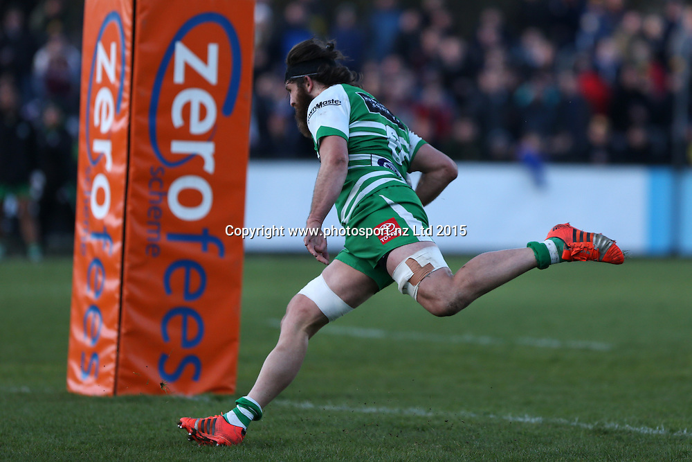 Heiden Bedwell-Curtis of Manawatu try bound during the ITM Cup rugby match between Southland and Manawatu at Rugby Park Stadium, Invercargill, Saturday, September 19, 2015. Photo: Dianne Manson / www.photosport.nz