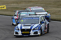 #99 Jason Plato Adrian Flux BMR Subaru Racing Subaru Levorg GT during BTCC Race 1  as part of the Dunlop MSA British Touring Car Championship - Rockingham 2018 at Rockingham, Corby, Northamptonshire, United Kingdom. August 12 2018. World Copyright Peter Taylor/PSP. Copy of publication required for printed pictures.