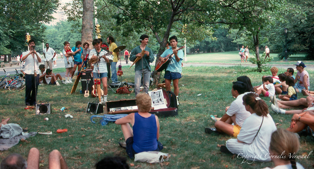 South American music by the group Hinantillan in Central Park