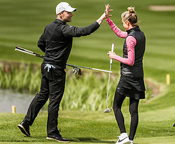 Ronan Keating and Storm Keating at The ISPS HANDA Mike Tindall Celebrity Golf Classic<br /> <br /> (c) John Baguley | Edinburgh Elite media