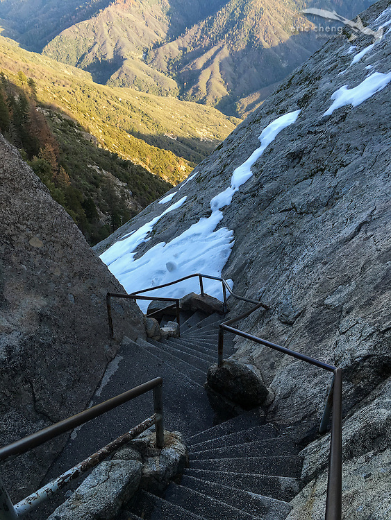 The path up Moro Rock. Sequoia National Park, California.