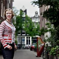 Nederland, Amsterdam , 18 juni 2012..Harpeniste en studente filosofie Andrea Voets..Foto:Jean-Pierre Jans
