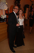 Gerald Scarfe and Jane Asher. National Portrait Gallery  150th Anniversary Fundraising Gala. National Portrait Gallery. London. 28 February 2006. ONE TIME USE ONLY - DO NOT ARCHIVE  © Copyright Photograph by Dafydd Jones 66 Stockwell Park Rd. London SW9 0DA Tel 020 7733 0108 www.dafjones.com