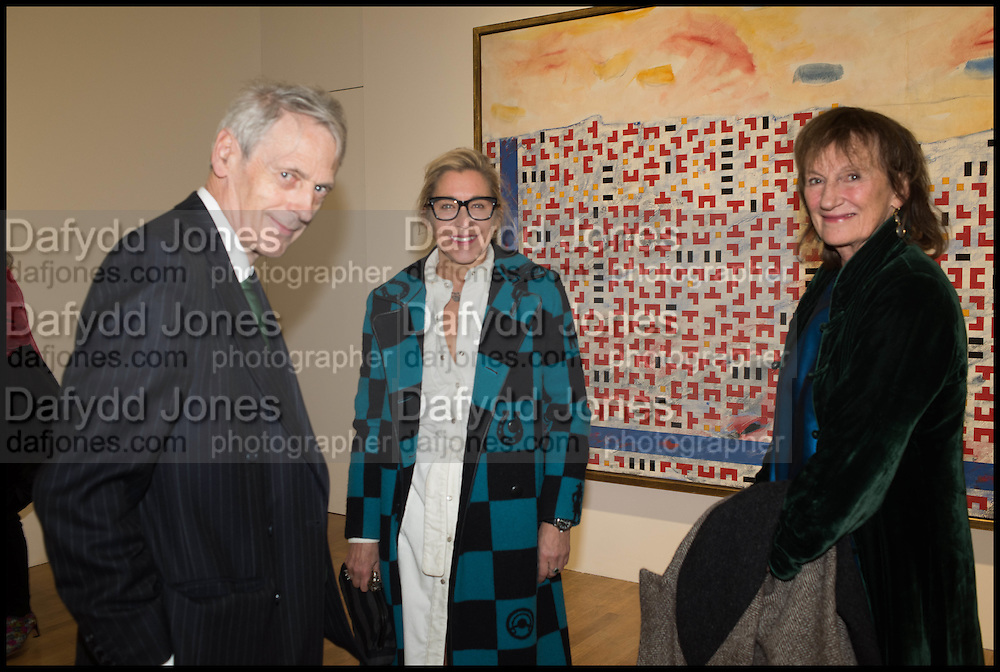 LORD NEIDPATH; MAYA HIRST; MANDA FEILDING, Private view for A Strong Sweet Smell of Incense<br /> A Portrait of Robert Fraser, Curated by Brian Clarke. Pace Gallery. 6 Burlington Gardens. London. 5 February 2015.