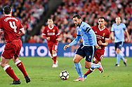 May 24, 2017: Sydney FC forward Bobo (9) takes the ball downfield at the soccer match, between English Premiere League team Liverpool FC and Sydney FC, played at ANZ Stadium in Sydney, NSW Australia.