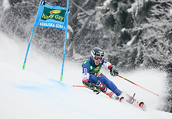 Hig Roberts of USA competes during 1st run of Men's GiantSlalom race of FIS Alpine Ski World Cup 57th Vitranc Cup 2018, on March 3, 2018 in Kranjska Gora, Slovenia. Photo by Ziga Zupan / Sportida
