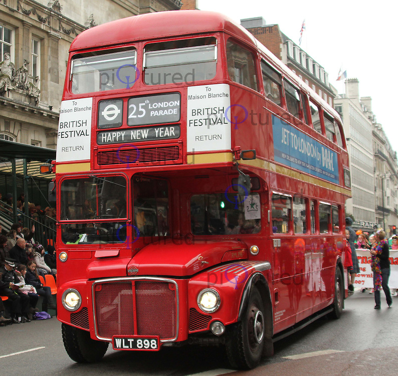 Routemaster Travel South London's New Year's Day Parade, City of Westminster, London, UK, 01 January 2011:  Contact: Ian@Piqtured.com +44(0)791 626 2580 (Picture by Richard Goldschmidt)