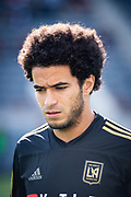 Los Angeles FC defender Omar Gaber (4) before the game  against New York City in a MLS soccer match in Los Angeles, Sunday, May 13, 2018. The game ended in a 2-2 tie. (Ed Ruvalcaba/Image of Sport)