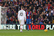 Wayne Rooney of Manchester United free kick during the Barclays Premier League match between Crystal Palace and Manchester United at Selhurst Park, London, England on 31 October 2015. Photo by Ellie Hoad.