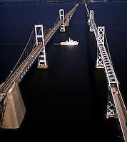 Aerial view of Chesapeake Bay Bridge