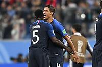 SOCCER : France vs Belgium - World Cup 2018 - 07/10/2018<br /> <br /> 04 RAPHAEL VARANE (FRA) - JOIE<br /> Norway only