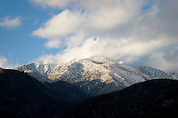 Mount Baldy Peak Winter Sunset, Angeles National Forest, California