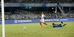 October 14, 2017 - Kolkata, West Bengal, India - England Forward Daniel Loader score his first goal of the match against Iraq during the FIFA U 17 World Cup India 2017 Group F matches in Kolkata. Player of England and Iraq in action during the FIFA U 17 World Cup India 2017 Group F match on October 14, 2017 in Kolkata. (Credit Image: © Saikat Paul/Pacific Press via ZUMA Wire)
