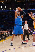 02 April 2013: Forward (25) Vince Carter of the Dallas Mavericks looks to pass against the Los Angeles Lakers during the first half of the Lakers 101-81 victory over the Mavericks at the STAPLES Center in Los Angeles, CA.