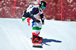 Snowboarder Cross Action, LUCHINI Jacopo, ITA at the 2016 IPC Snowboard Europa Cup Finals and World Cup