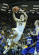 December 17, 2011: Iowa Hawkeyes guard/forward Eric May (25) puts up a shot during the the NCAA basketball game between the Drake Bulldogs and the Iowa Hawkeyes at Carver-Hawkeye Arena in Iowa City, Iowa on Saturday, December 17, 2011. Iowa defeated Drake 82-68.
