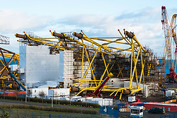 View of Burntisland Fabrications yard at Fife Energy Park in Methil in Fife , Scotland, UK. They fabricate platforms and modules for the offshore oil, gas and renewable industries.