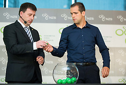 Ales Zavrl of NZS and Ales Poplatnik, brother of Matej Poplatnik during NZS Draw for season 2015/16 on June 23, 2015 in Brdo pri Kranju, Slovenia. Photo by Vid Ponikvar / Sportida