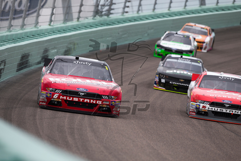 Homestead, FL - Nov 21, 2015:  The NASCAR Xfinity Series teams take to the track for the Ford Ecoboost 300 at Homestead Miami Speedway in Homestead, FL.