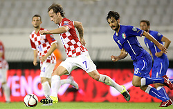 12.06.2015, Stadion Poljud, Split, CRO, UEFA Euro 2016 Qualifikation, Kroatien vs Italien, Gruppe H, im Bild Ivan Rakitic, Marco Parolo // during the UEFA EURO 2016 qualifier group H match between Croatia and and Italy at the Stadion Poljud in Split, Croatia on 2015/06/12. EXPA Pictures © 2015, PhotoCredit: EXPA/ Pixsell/ Igor Kralj<br /> <br /> *****ATTENTION - for AUT, SLO, SUI, SWE, ITA, FRA only*****