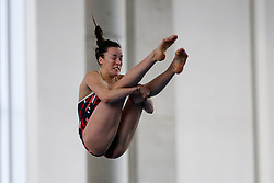 Clare Cryan of City of Sheffield Diving Club competes in the Womens 3m Springboard Final - Photo mandatory by-line: Rogan Thomson/JMP - 07966 386802 - 22/02/2015 - SPORT - DIVING - Plymouth Life Centre, England - Day 3 - British Gas Diving Championships 2015.